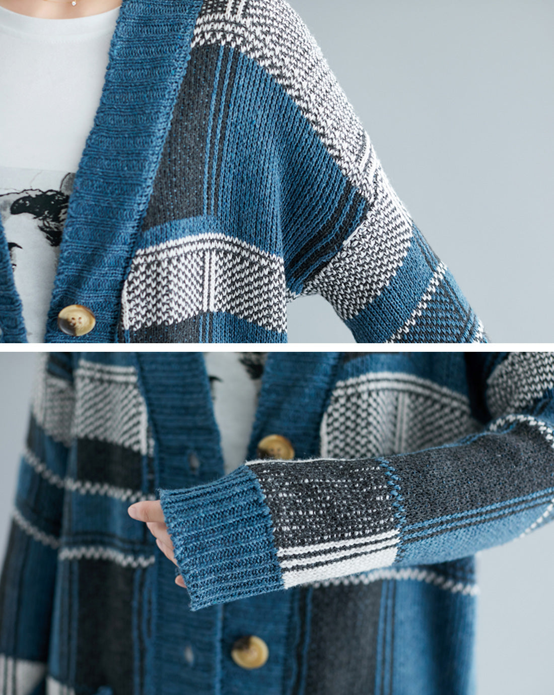 All About Hue Chenille Cardigan Sweater Details 2