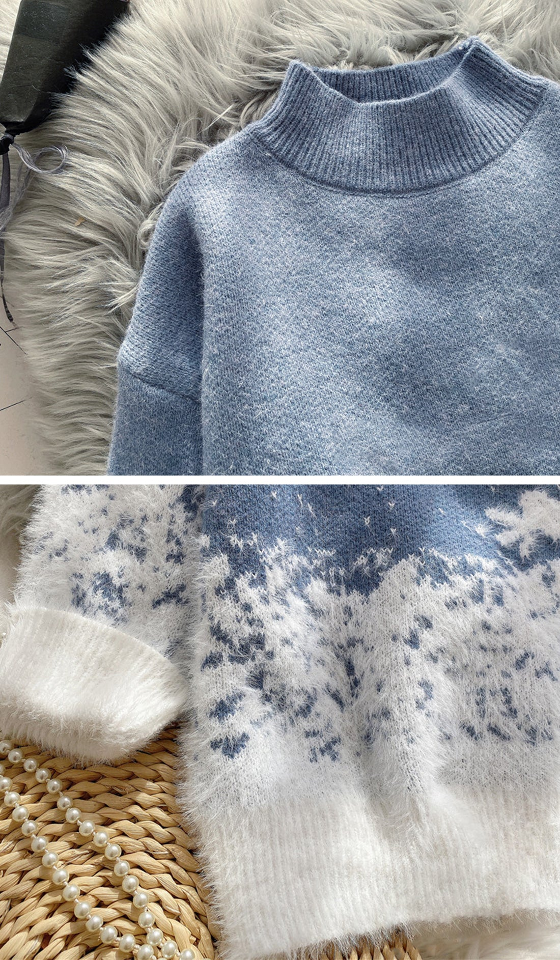 Snow Falling For Me Christmas Sweater Details 2