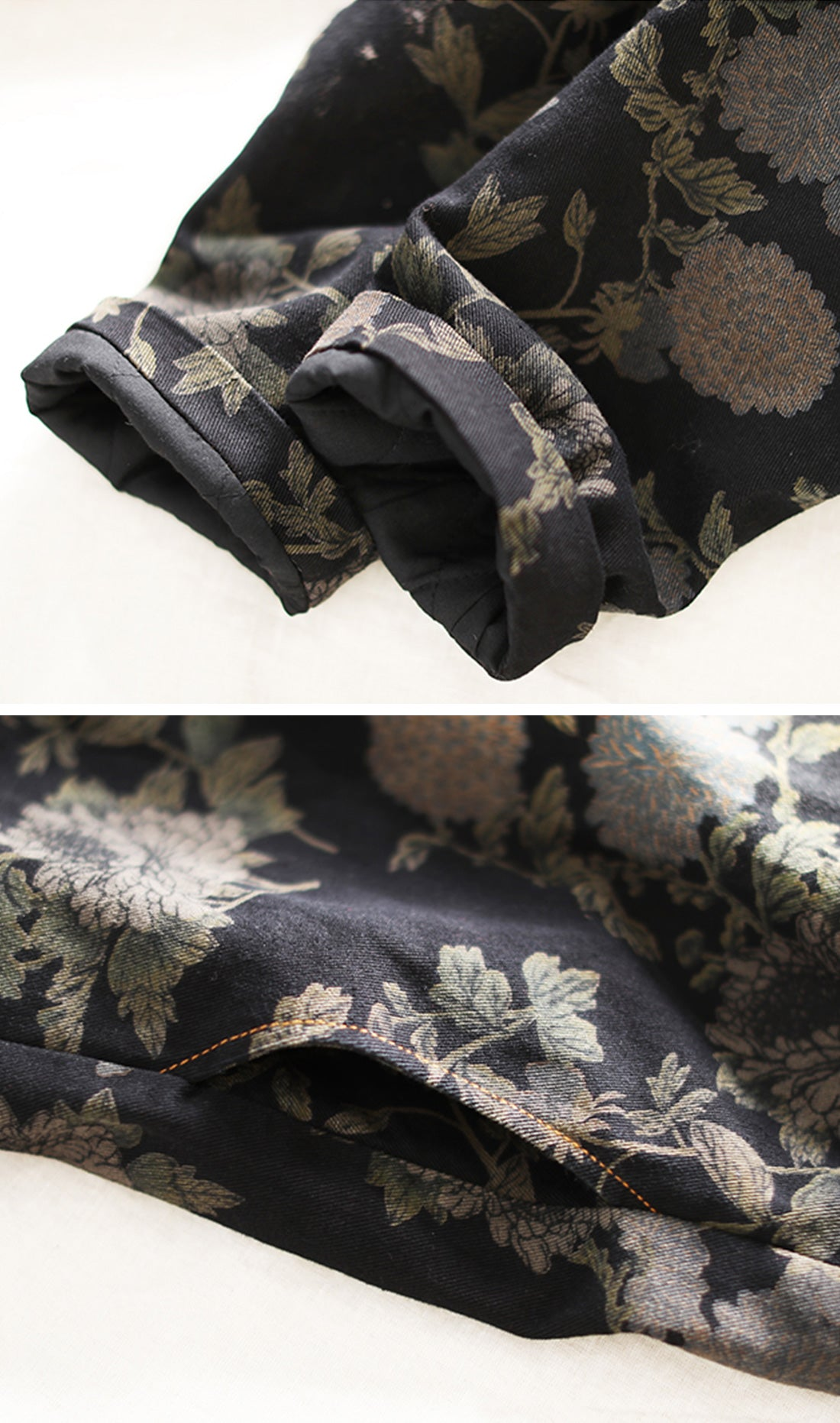 Catch Me If You Can Printed Cotton Coat Details 2