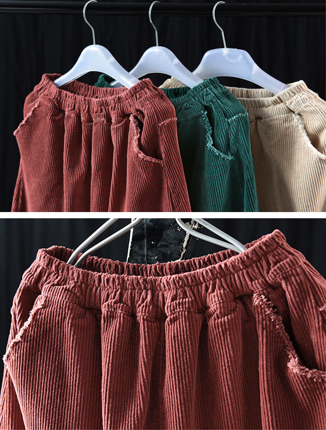 Simple Thickened Corduroy Skirt Details 2