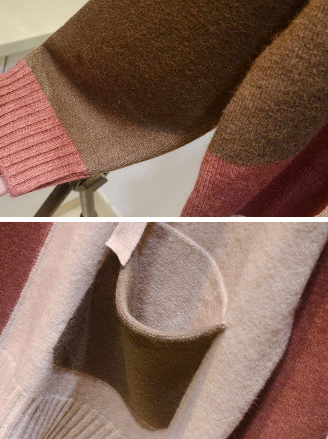 Color Block Full-Sleeve Cotton Sweater Details 2