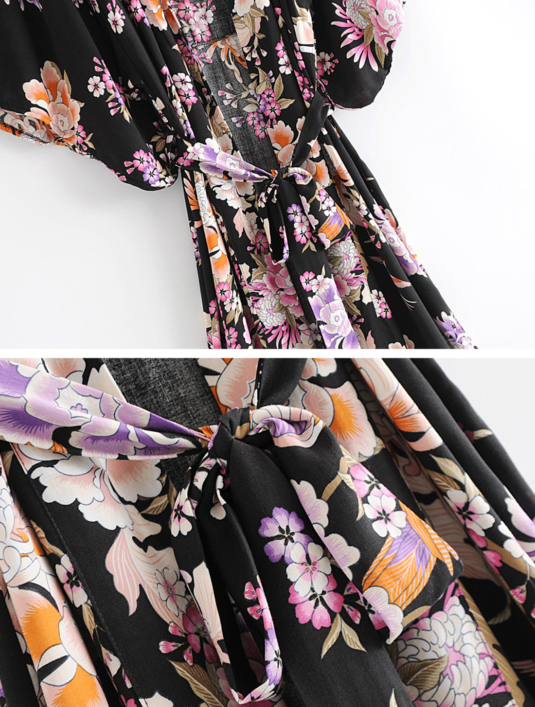 Simple As Can Kimono Robe Details 2