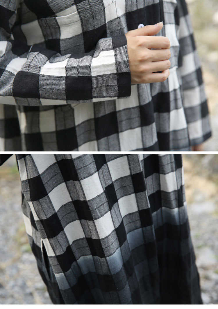 Envisioned Aesthetic Tartan Midi Dress Details 2