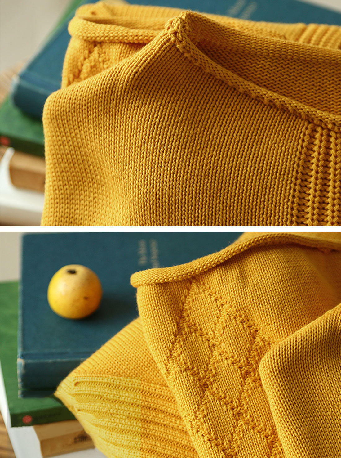 Two-pocket knitted sweater Dress Details 2