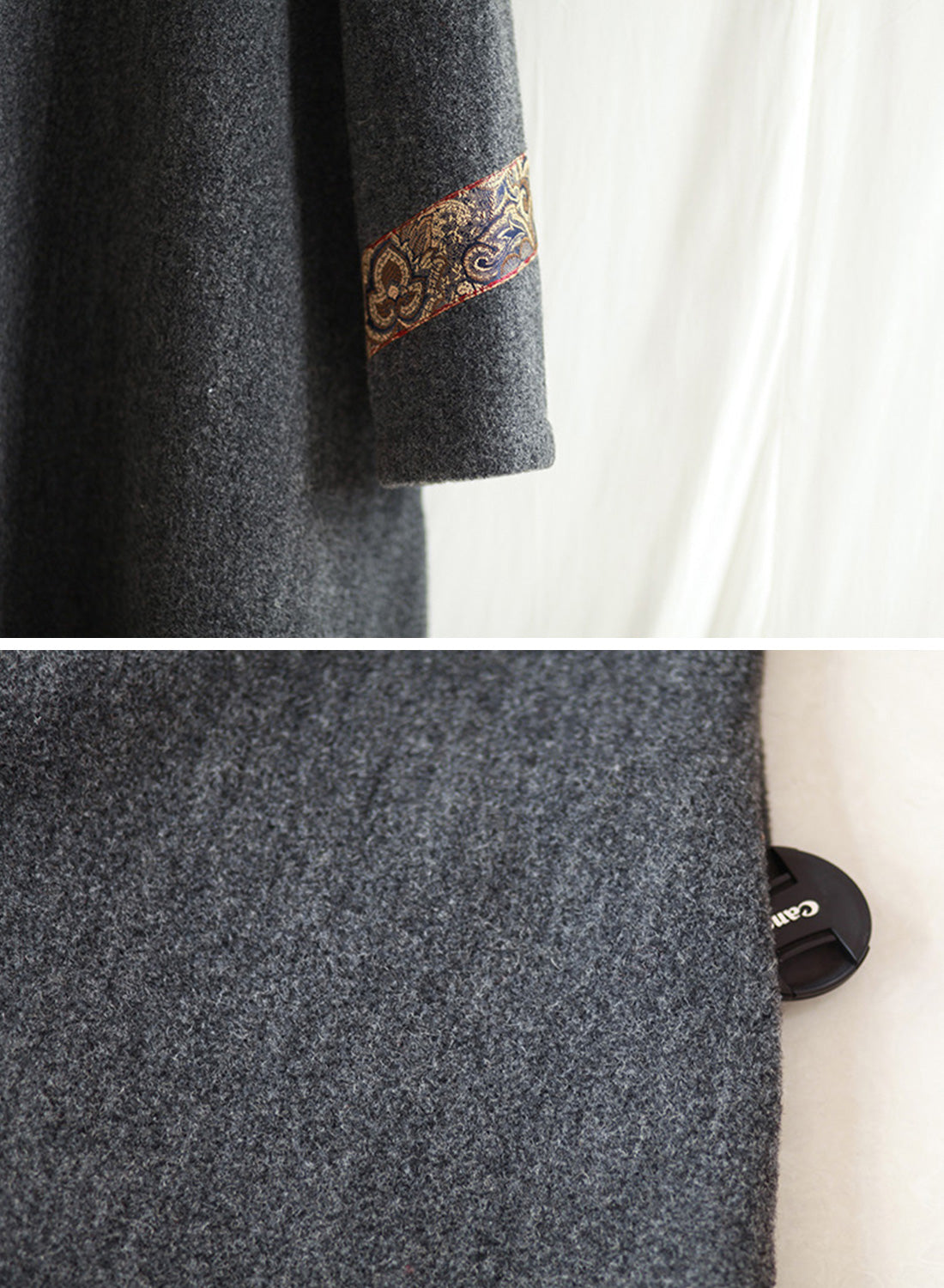 Out of the Woods Woolen Maxi Dress Details 3