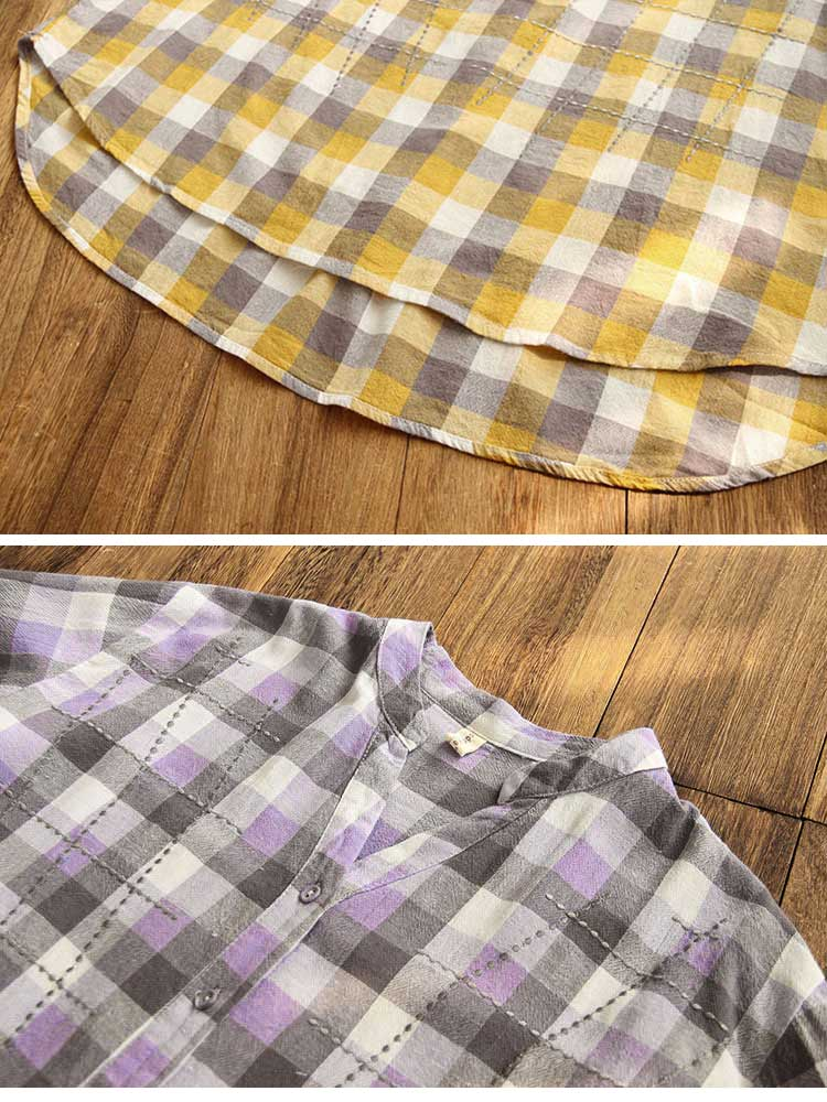 It's Undeniable Button-Up Plaids Shirts Details 3