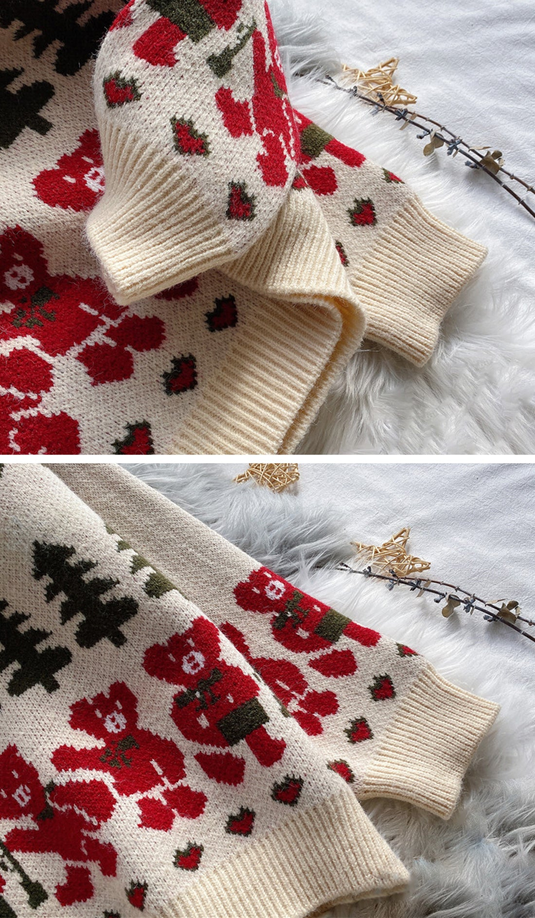 Time For A Beer Christmas Sweater Details 3