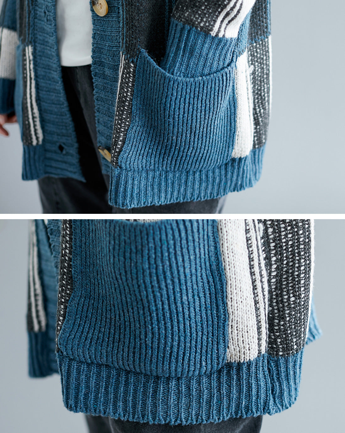 All About Hue Chenille Cardigan Sweater Details 3