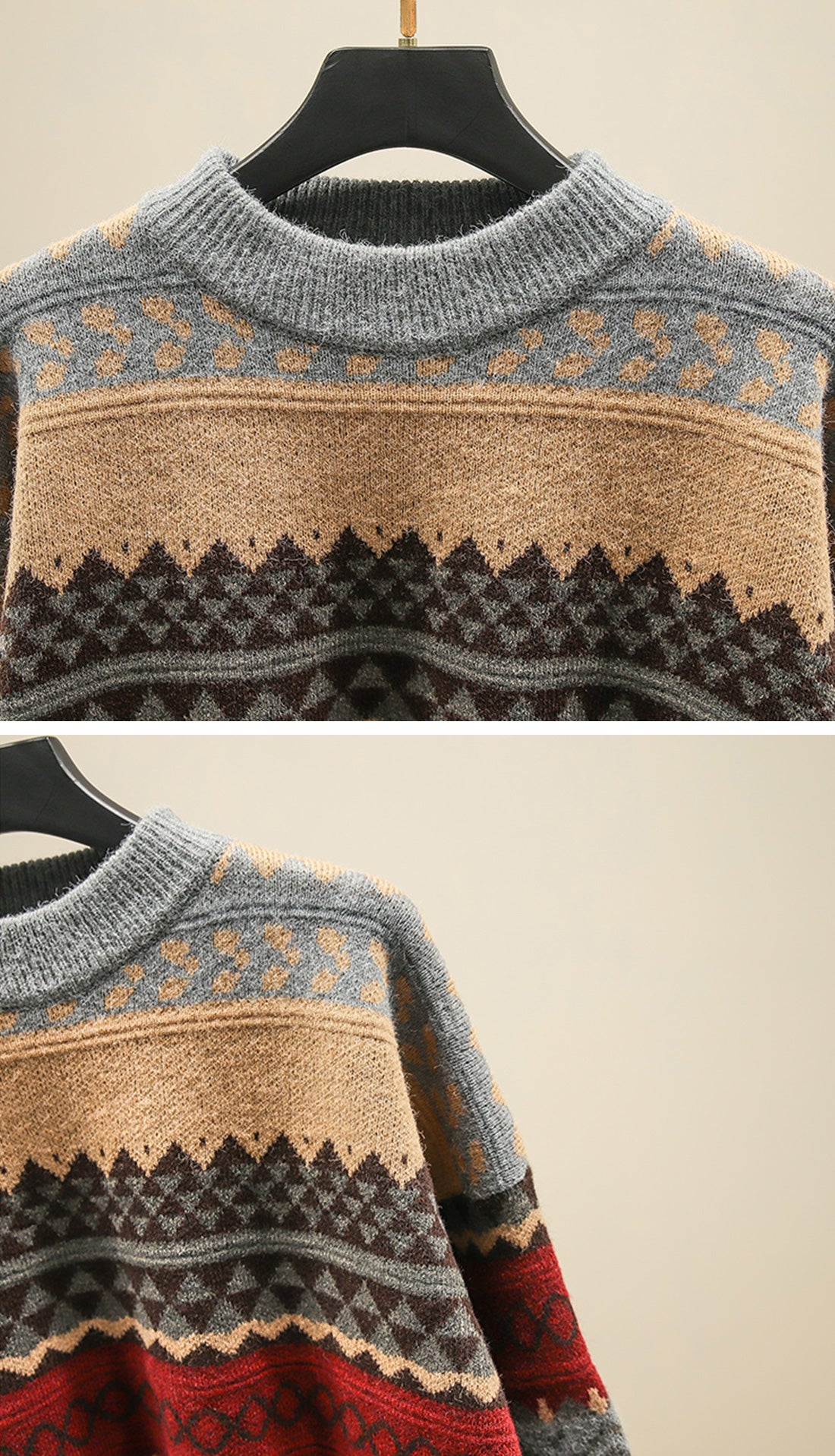 Woods Reversible Sweaters Details 3