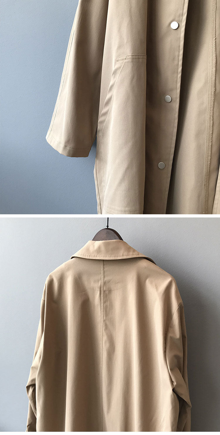 Salient Style Collared Coat Details 3