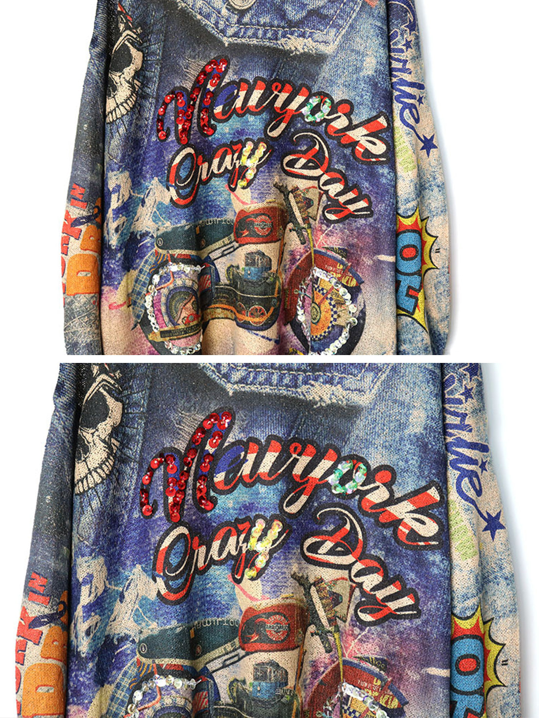 New York Crazy Days Sweater Top Details 3