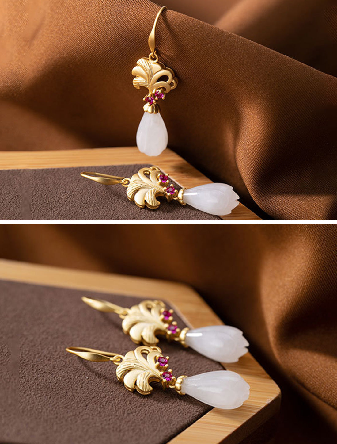 Natural Notion Drop Earrings Details 3