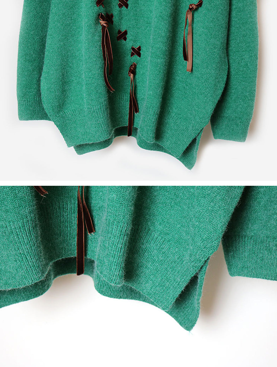 Daily Luxe Green Sweater Top Details 3