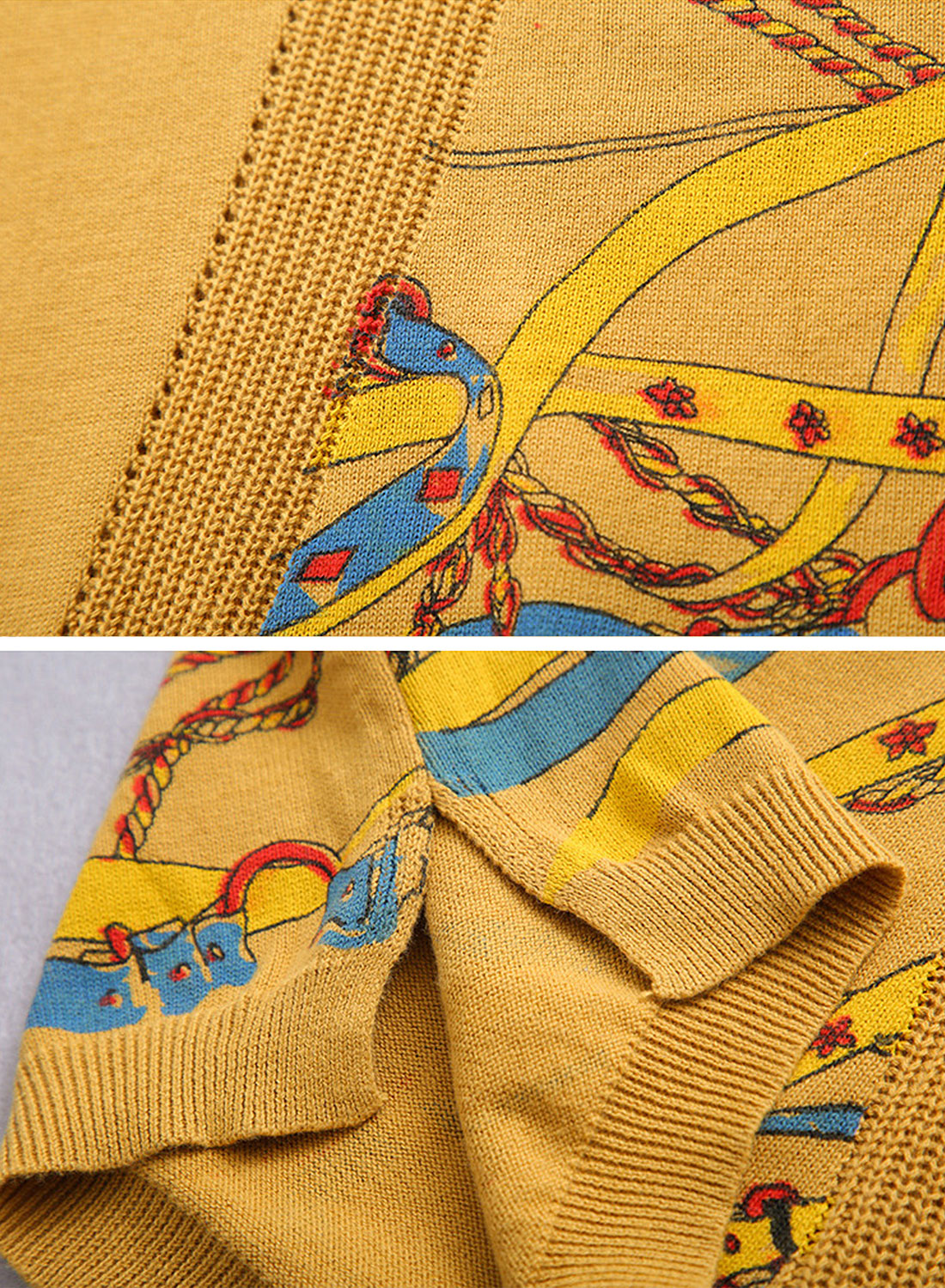 Stitching Sweaters with Side Printing Details 3