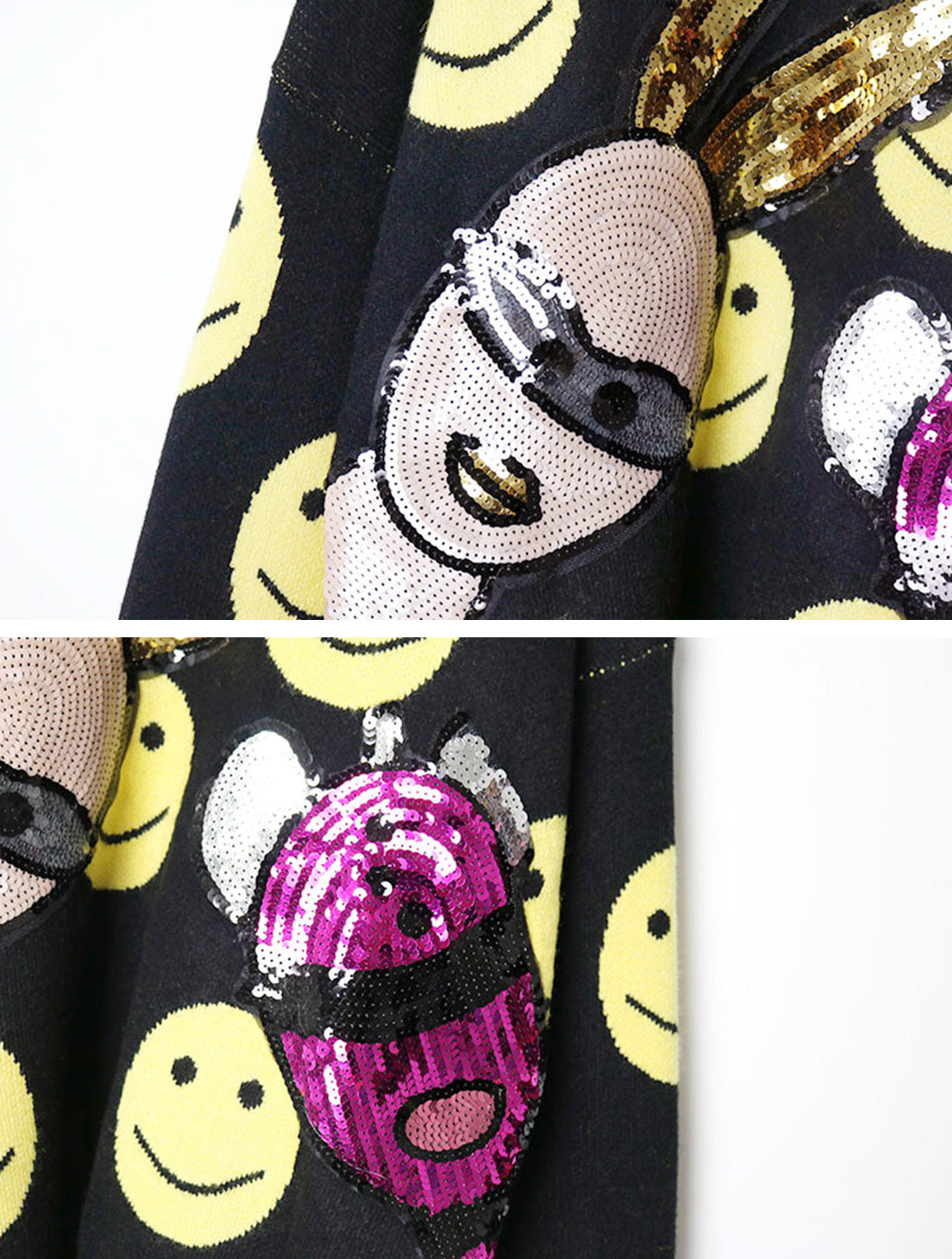Diva On Happy Mood Sweater Top Details  3
