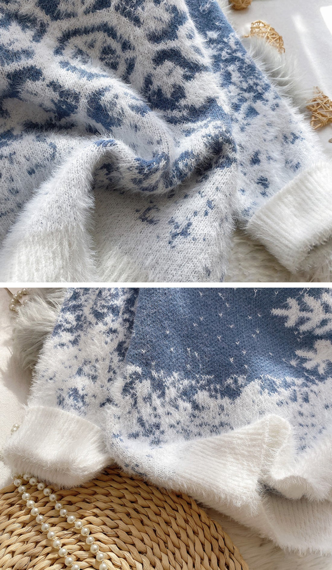 Snow Falling For Me Christmas Sweater Details 3