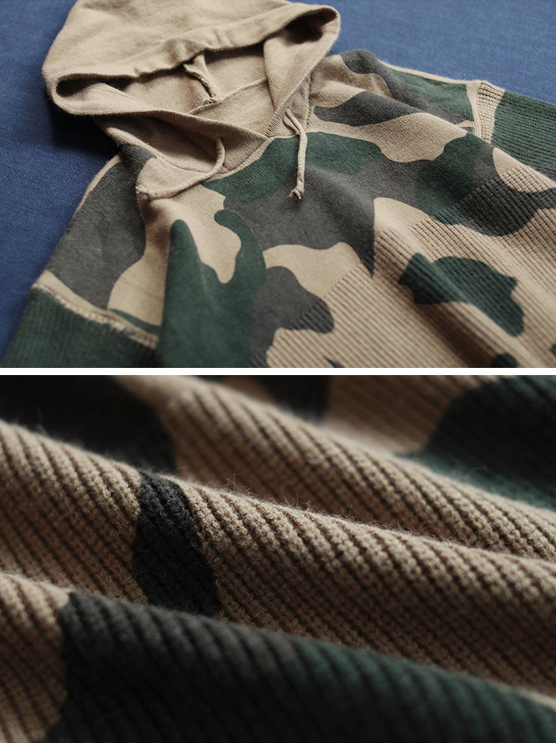 Wild Camouflage Hooded Sweater Details 3