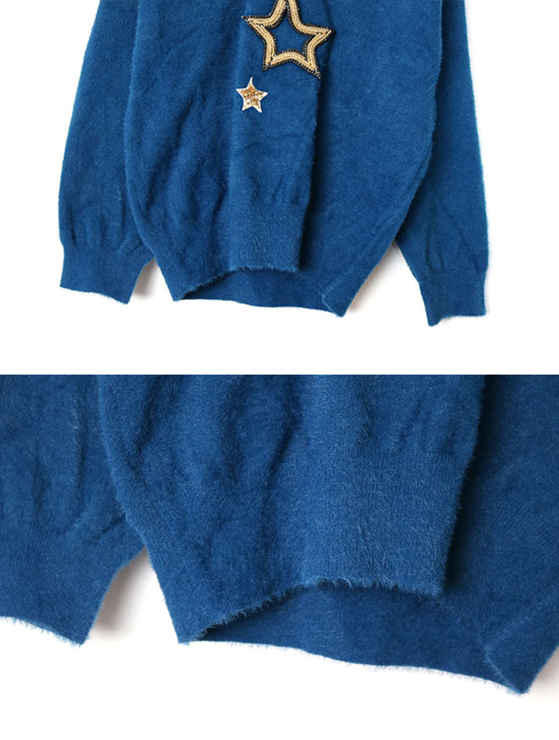 Obviously Edgy Star Embroidered Sweater Top Details 4
