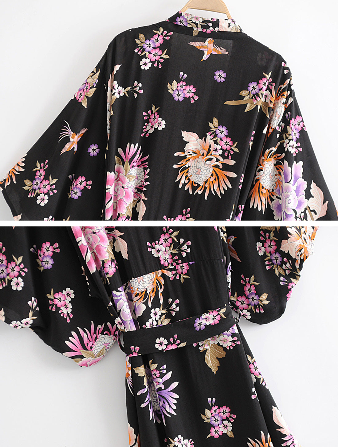 Simple As Can Kimono Robe Details 4