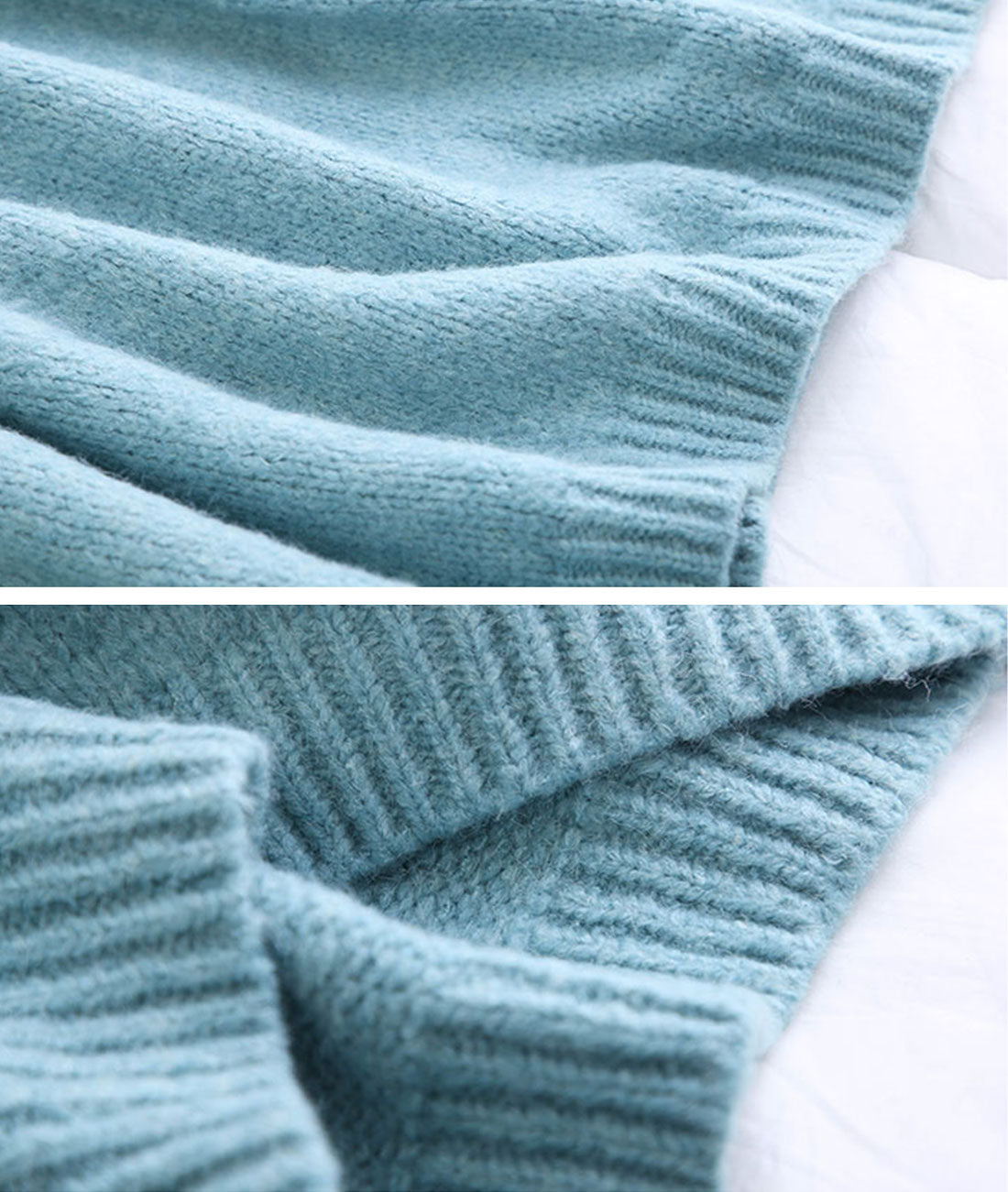 Side By Size Knitted Sweater Dress Details 4