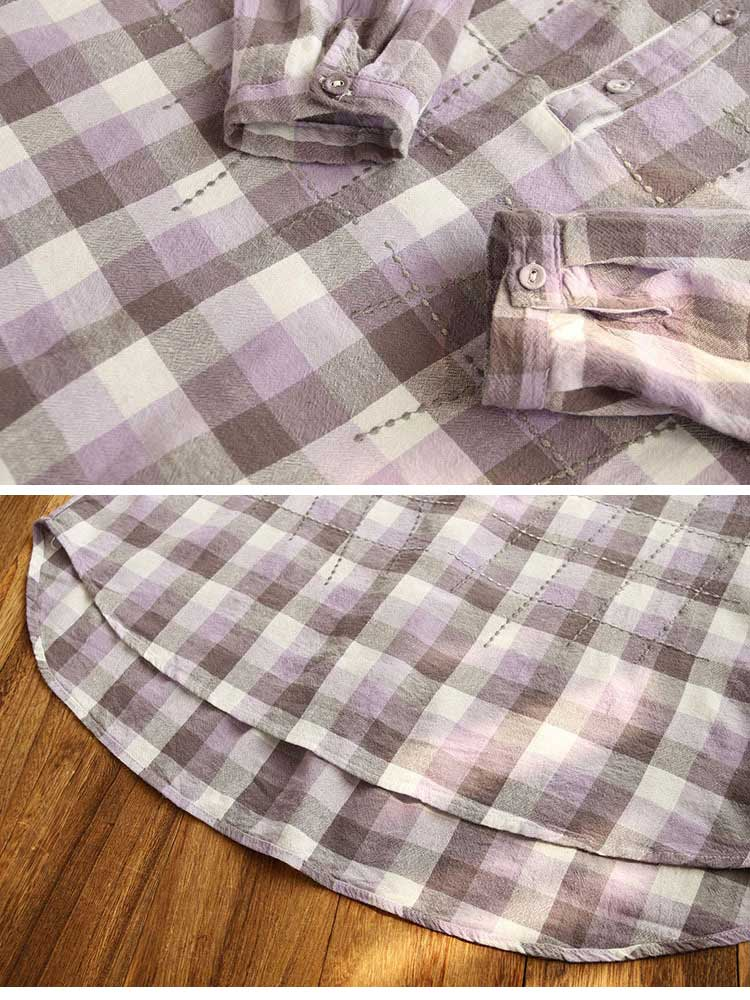 It's Undeniable Button-Up Plaids Shirts Details 4