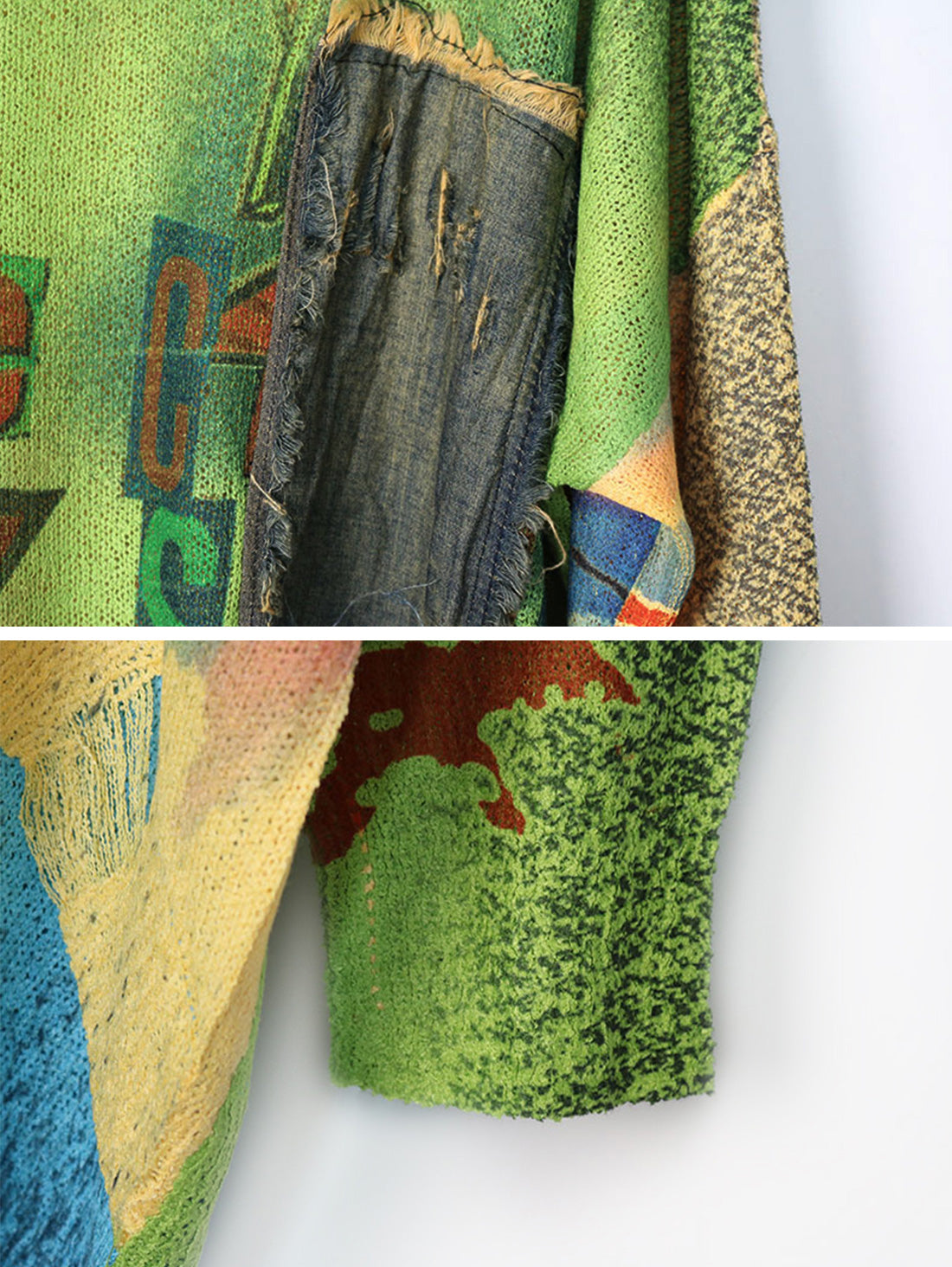 Call For Peace Sweater Top Details