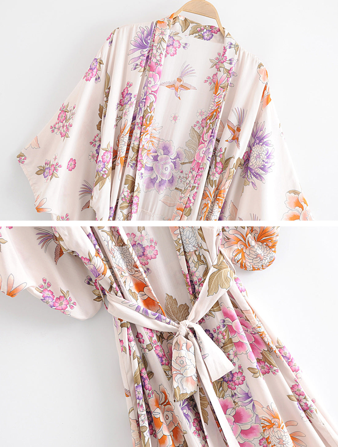 Simple As Can Kimono Robe Details 6