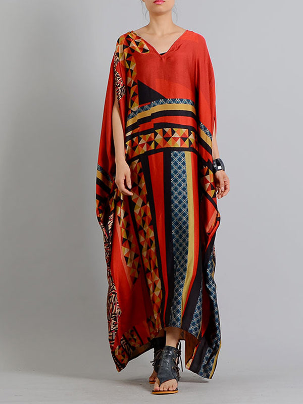 Geometric Houndstooth Kaftan Dress (USA Only)
