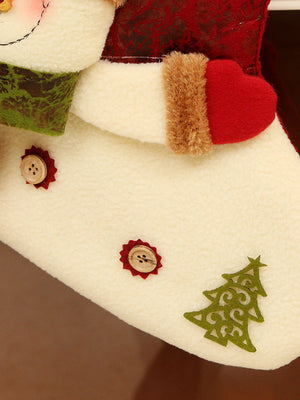Christmas Gift Sock with Fuzzy Santa