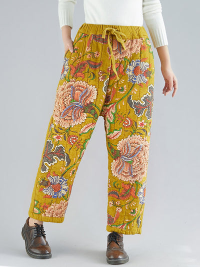 Marla Floral Printed Cotton Trousers