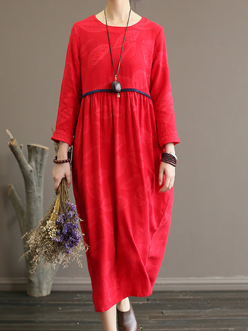 Sour Cherry Smock Dress