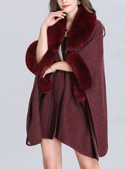 You're So Blossom Fluffy Plus Size Cape Cardigan