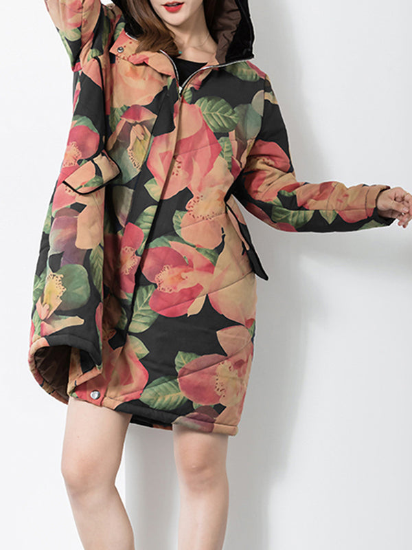 Lilly Bud Floral Hooded Coat