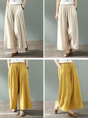 See Me Next Cotton & Linen Wide Leg Pant