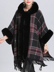 Extravagant Tassel Border Flully Neck Cape Cardigan