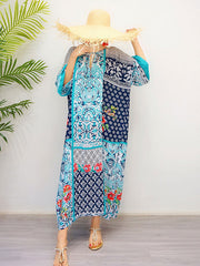 The Josie Retro Style Loose Bohemian Maxi Dress
