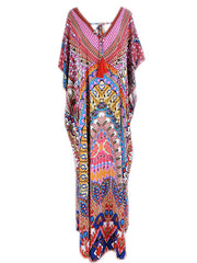Over Again Abstract Print Loose Bohemian Maxi Dress