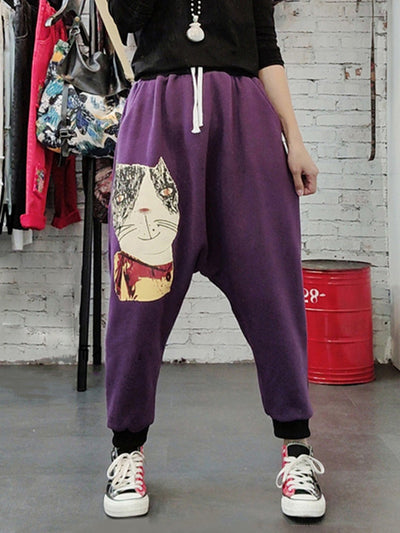 Clever Cat Cotton Trouser Pants