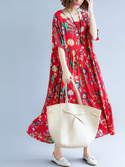 Will You Be Mine Foral Print Cotton Smock Dress