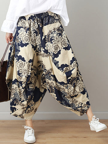 Fierce Flora Harem Pants