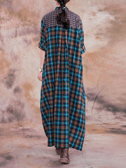 Savored Rays Plaid Midi Dress