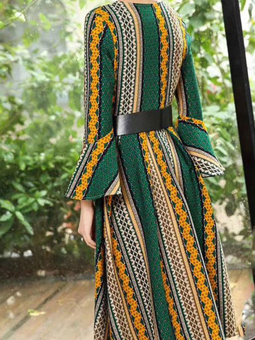 Bohemian Tribal Art Wrap Dress