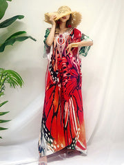 Forever My Butterfly Loose Bohemian Maxi Dress