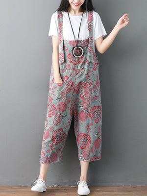 Paisley Overall Dungarees