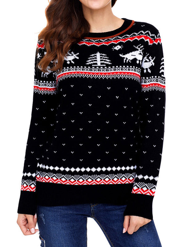 Printed Flakey Sweater