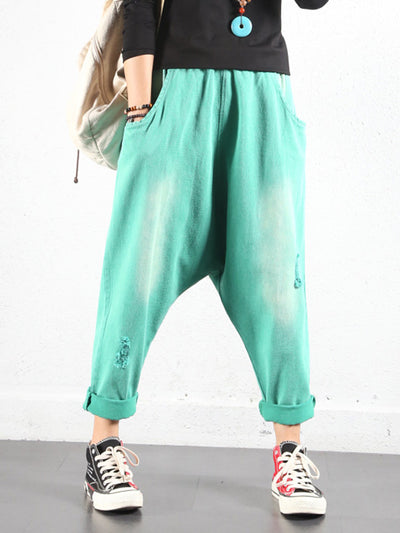 Bright Solid Color Trouser Pants