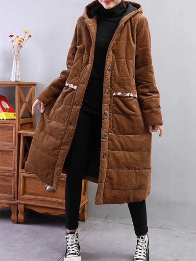 Bad At Love Padded Cotton & Curduroy Coat