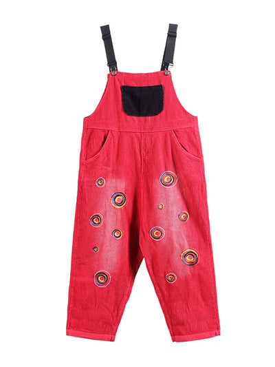 Corduroy Back & Front Pocket Overalls Dungarees