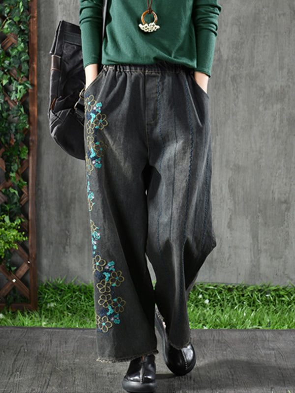 Old Floral Fun Wide Leg Pants