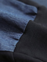 Denim Stitching Cotton Hoodies
